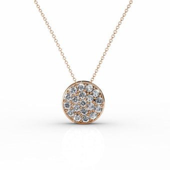 Harga Round Pendant - Rose Gold (Crystals from Swarovski®)