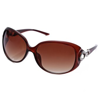 Harga Retro Solid Ladies Arc Frame Polarized Sunglasses
