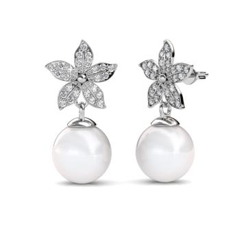 Harga Bloom Pearl Earrings - Crystals from Swarovski®