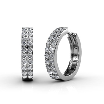 Harga Glamour Ring Earrings - Crystals from Swarovski®