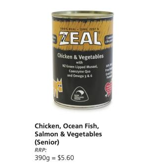 Harga Zeal dog can food (carton sale / 12cans) Chicken & Vegetables