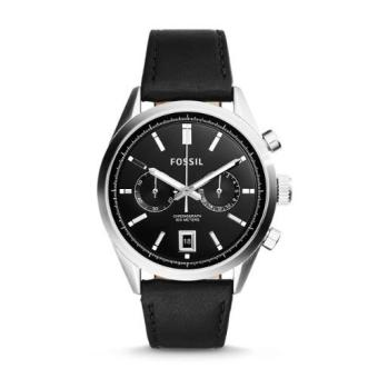 Harga Fossil DEL REY CHRONOGRAPH BLACK LEATHER WATCH CH2972