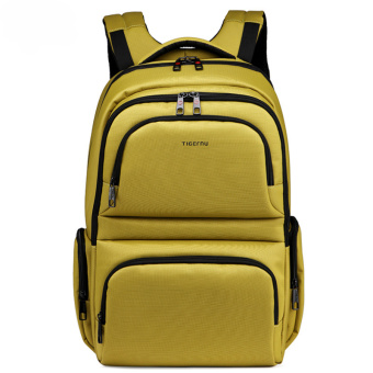 Harga Fashion Waterproof Backpack Men 15.6 Inch Laptop Leisure School Back Bag - Green
