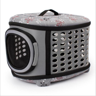 Harga Pet Cat Dog Travel Carrier EVA Nylon Portable Breathable Box House for Small Dogs Cats Puppies(Gray) - intl