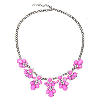 Harga New Vintage Vintage Crystal Flower Crystal Bib Choker Chain Statement Necklace NEW - intl