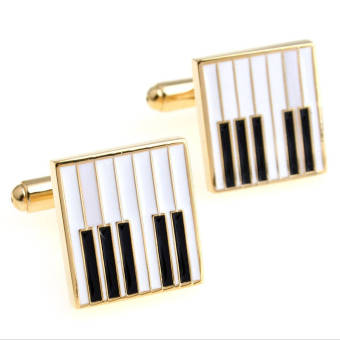 Harga The Linked Cuff Piano Keys (Gold) Cufflinks