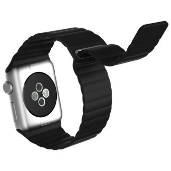 Harga Genuine Leather Band for Apple Watch iwatch,Replacement Leather strap for Apple Watch 42mm (Black)