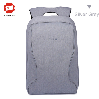 Harga Tigernu Brand Fashion Business Casual Anti-Theft Backpack 14 Inches Laptop BagsT-B3188 (Silver grey)