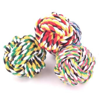 Harga Dog Rope Toy Durable Chew Knot Ball for Aggressive Puppy Pets(7cm) - intl