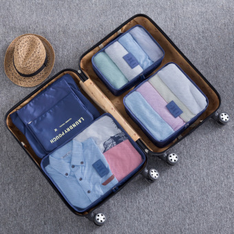 Travel Storage Six piece suit waterproof wash bag storage bag cosmetic bag men storage bag travel female portable suit