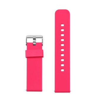 Harga Sports Silicone Watch Band Strap for Pebble Time/Time Steel/Cookoo2 Smart Watch,Samsung Galaxy Gear in Red(Export)