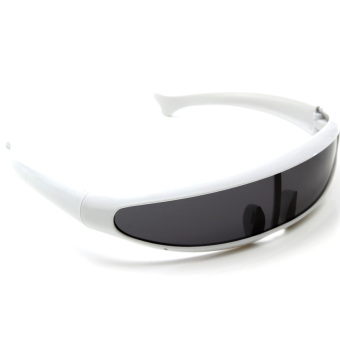 Cyclops Sunglasses Shades Sunnies Mirror Dark Space Robot Alien Shield Costume