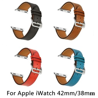 Harga Luxury Leather Watch Band Retro Wrist Strap For Apple Watch Iwatch 38mm 42mm - intl