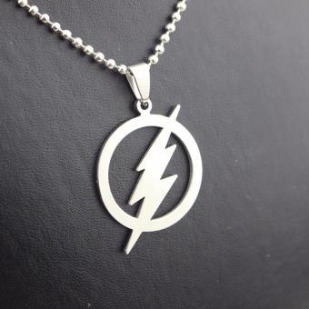 Harga Hequ THE FLASH DC SUPER HERO Flash Lightning Logo Stainless Steel Chain necklaces pendants - intl