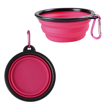 Harga Portable Collapsible Feeding Bowl with Carabiner for Cats Dogs Pack of 1 (Pink)