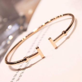 Harga Rosegold H Design Fashionable Accessories Korea Style New Fast Delivery