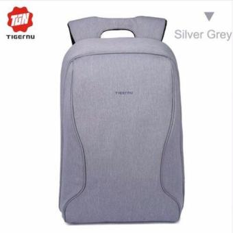 Harga Local Stock 2016 Tigernu Fashion Korea Style 14 Inch Laptop Bags Fashion Anti-Theft Student Backpack T-B3188(Silver Grey)