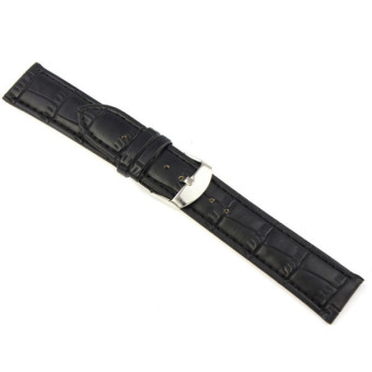 Harga Fang Fang Leather Strap Wrist Watch Band 20mm (Black)