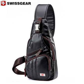 New Brand SWISSGEAR/SCHWYZ+CROSS Waterproof Nylon Chest Bag For iPad Mini SWISS Unisex Fashion Shoulder Bag Patchwork Waist Bag Black - Intl