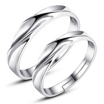 Harga Fashion Lovers Rings Silver Adjustable Couple Ring Jewelry E008 - intl
