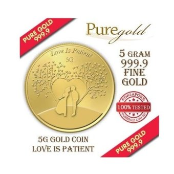 Harga Puregold Love is Patient Gold Coin 5g.