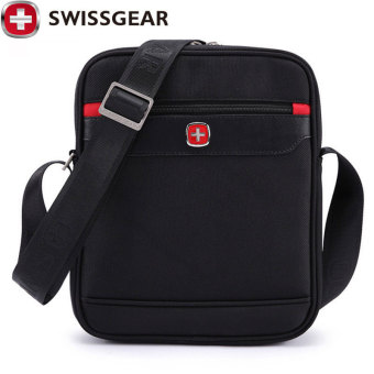 New Brand SWISSGEAR Waterproof For ipad Shoulder Bags Portable Men and Women Laptop Messenger Business Bag 25*7*29CM JDB65 - Intl