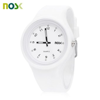 Harga NOSK 528 Kids Quartz Artificial Diamond Dial Watch (White) - intl