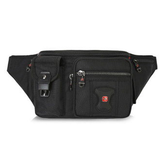 SwissGear 8013 Model Leisure Travel Outdoor One-shoulder Bag Waist Bag (Black)