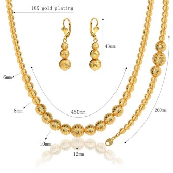 Harga Lovely Ball Set Stamp 18K Real Gold Plated/Platinum Plated Trendy Party Necklace Earrings Jewelry Sets For Women NB60076