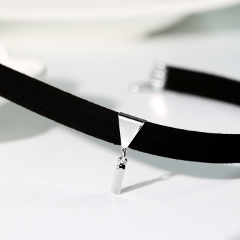 Influx of people Japan and South Korea black neck jewelry necklace