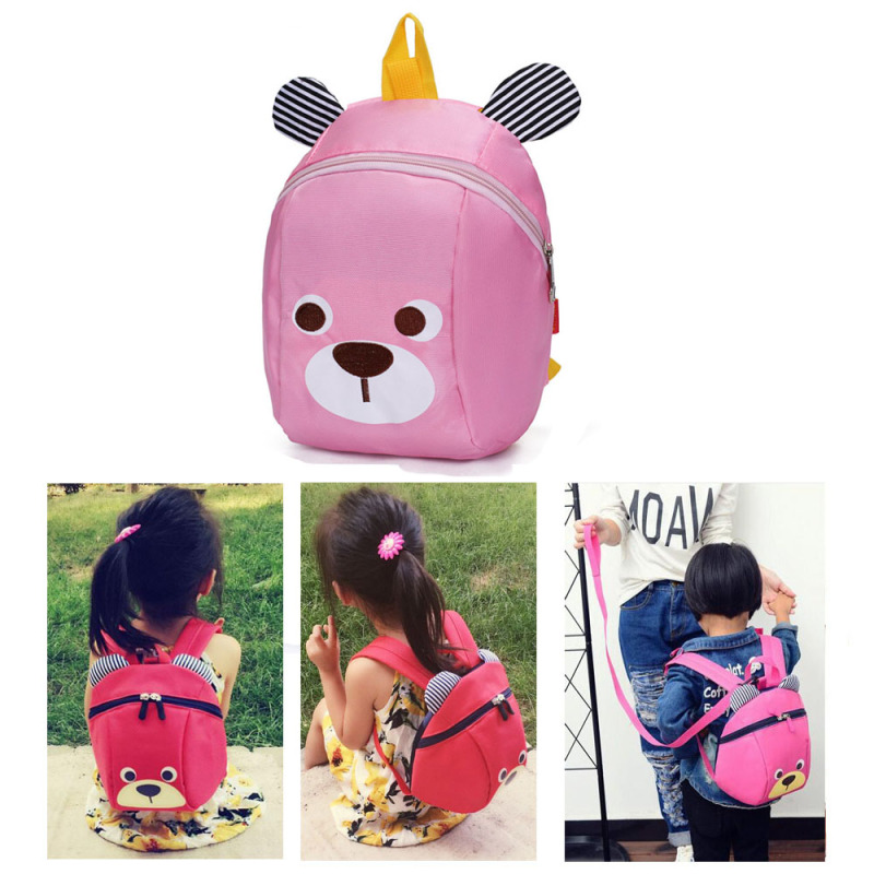 Kids Safety Harness Backpack Nursery Back Pack Purse Bags for Baby Boy Girl Travel-pink - intl