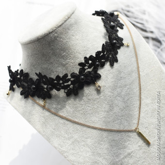 Kn5700 hot selling Moon star flower necklace