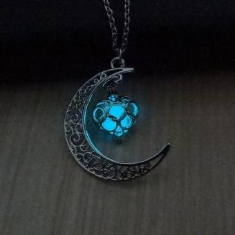 Luminous Glow In the Dark Necklace Sailor Heart Moon PendantNecklace - intl