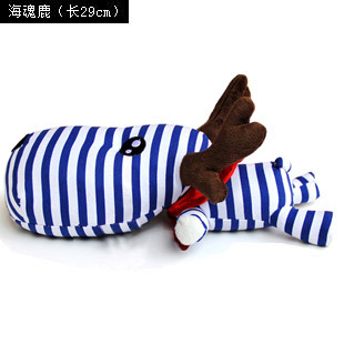 LurLur cute charcoal deer neck pillow charcoal bag