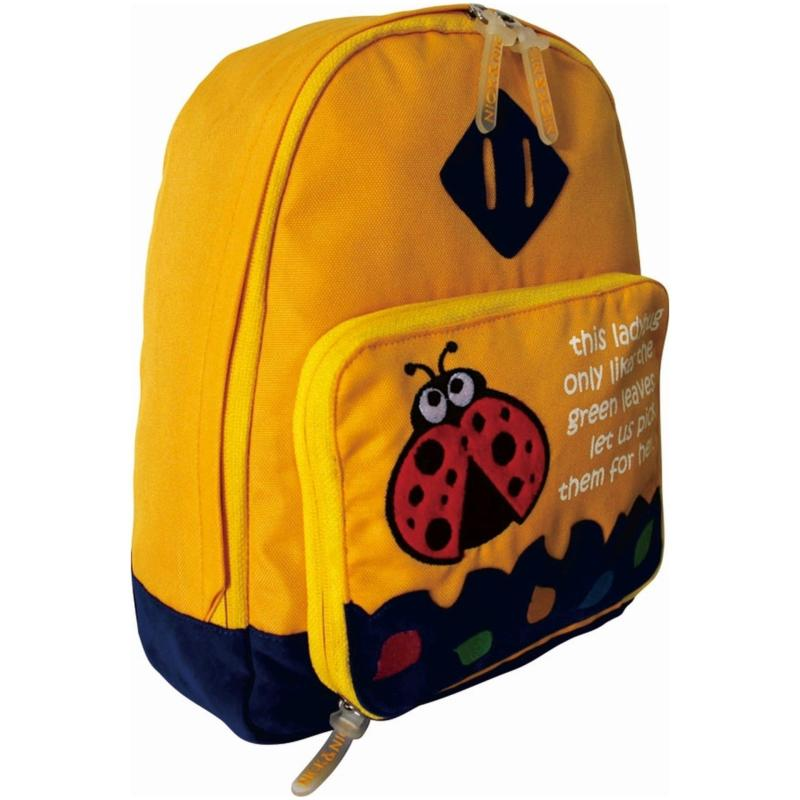 Nick & Nic Foldable Backpack Lady Bug (Yellow)
