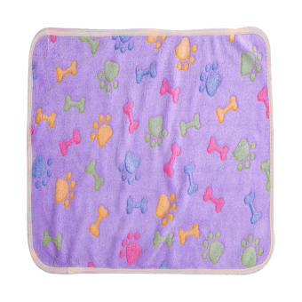 Pet Dog Cat Soft Warm Blanket Mat 20*20cm (Purple)