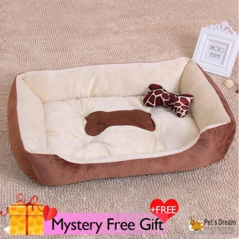 Harga Pet's Dream Pet Dog Cat Bed Pet Kennel Home Bed (L Brown) - intl