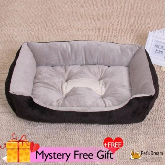 Harga Pet's Dream Pet Dog Cat Bed Pet Kennel Home Bed (XS Black) - intl