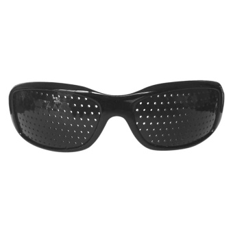 Harga Pinhole Vision Improver Glasses Therapy Black - intl