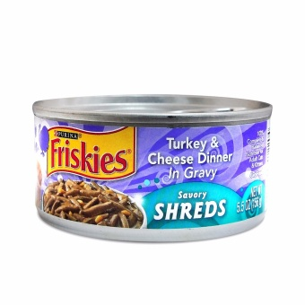Harga PURINA FRISKIES Turkey & Cheese Cat Food 156g