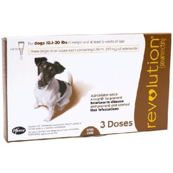 Revolution for Dogs (5.1-10.0 kg) 3 Doses