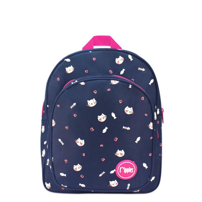 Ripples Kids Backpack Kittens (Navy Blue)