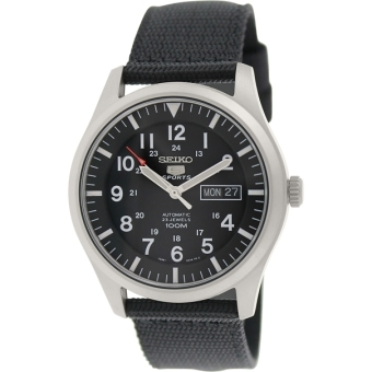 Seiko 5 Sports Classic Casual Chic SNZG15K1 Nylon Strap Black Dial Automatic Watch