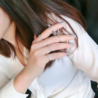 Star simple celebrity inspired open female ring finger ring