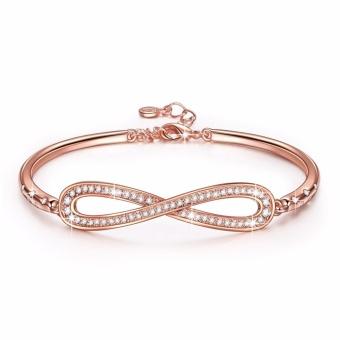 "Swarovski Crystals LadyColour ""Endless Love"" Infinity Bangle Bracelets, Made with Swarovski Crystals 6.7"" plus 1.25"" - intl"