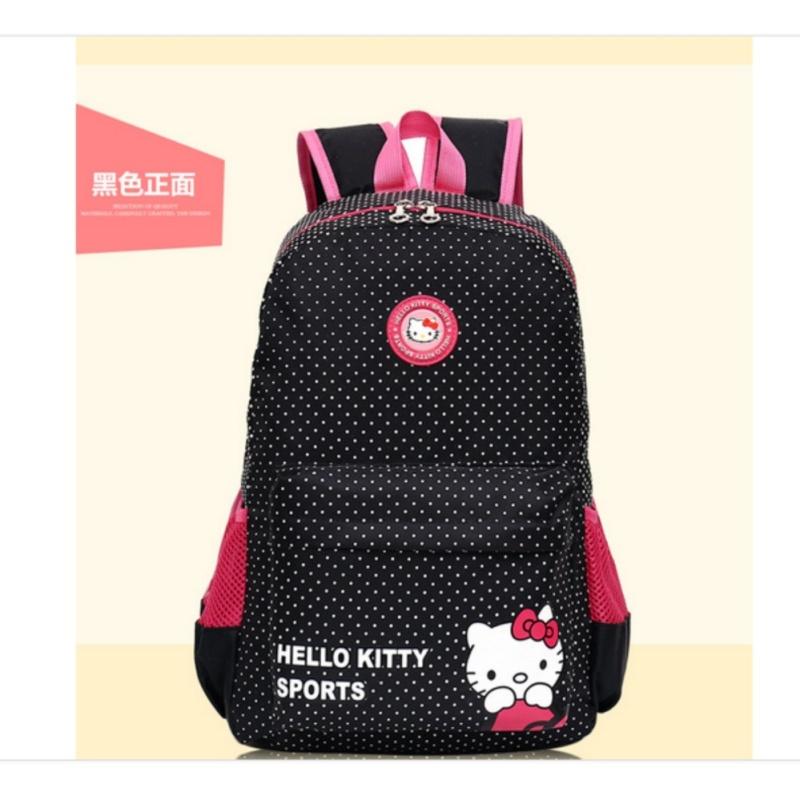 The new HELLO bag KITTY cartoon cute backpack (black) - intl