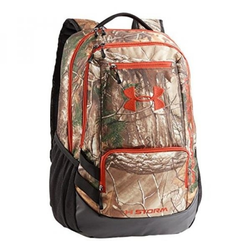 Under Armour Camo Hustle Backpack, Realtree Ap-Xtra/Dynamite, One Size - intl