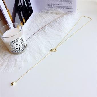 Women geometric long section of South Korea clavicle chain