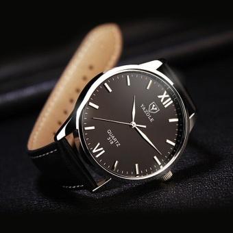 Yazole Vintage Men Leather Band Fashion Stainless Steel Sport Source · Bussiness Quartz Wrist Watch YZL278 B White Source Harga YAZOLE Watches