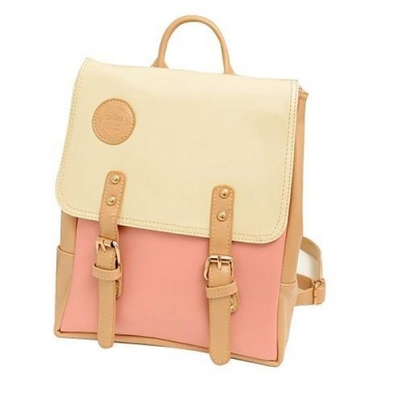 YOPO New Retro Vintage Casual Womens Backpack School Bag Fashion Travel School PU Leather Handbag ipad bag, four colors avaliable - intl